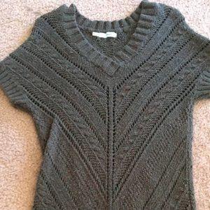Eyelet sweater dress